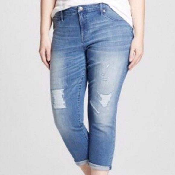 35b0f175c2d5f2 Ava & Viv Jeans | Plus 26w 24w Jegging Crop Distressed Denim | Poshmark